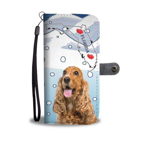 Cocker Spaniel Print Wallet Case-Free Shipping-FL State