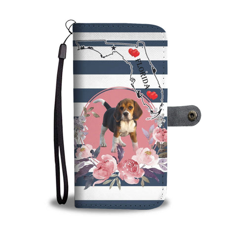 Amazing Beagle Print Wallet Case-Free Shipping-FL State