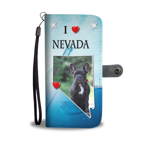 Cute French Bulldog Print Wallet Case-Free Shipping-NV State
