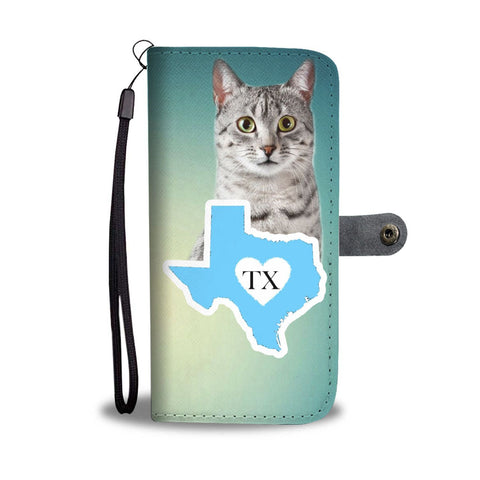 Egyptian Mau Cat Print Wallet Case-Free Shipping-TX State