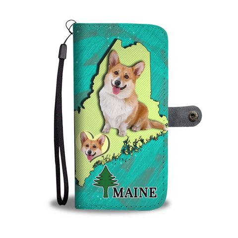 Lovely Cardigan Welsh Corgi Dog Print Wallet Case-Free Shipping-ME State