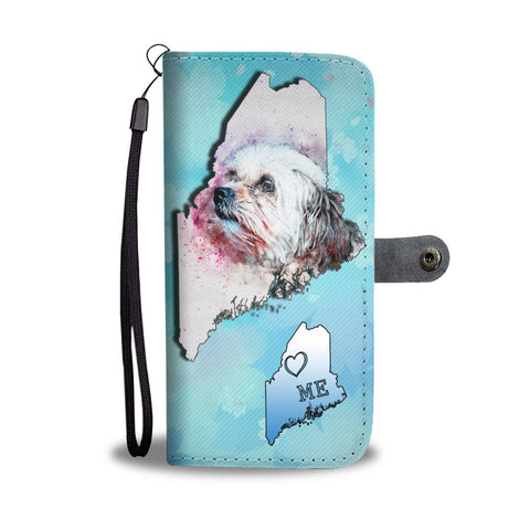 Shih Tzu Dog Watercolor Art Print Wallet Case-Free Shipping-ME State