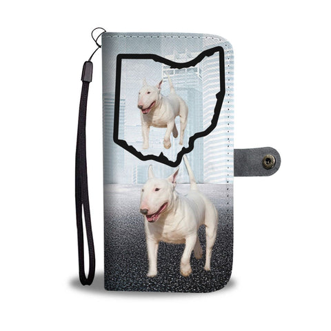 Bull Terrier Print Wallet Case-Free Shipping-OH State