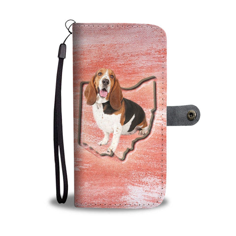 Basset Hound Print Wallet Case-Free Shipping-OH State