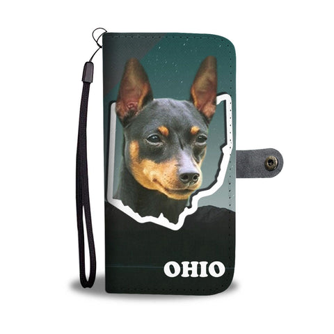 Miniature Pinscher Print Wallet Case-Free Shipping-OH State