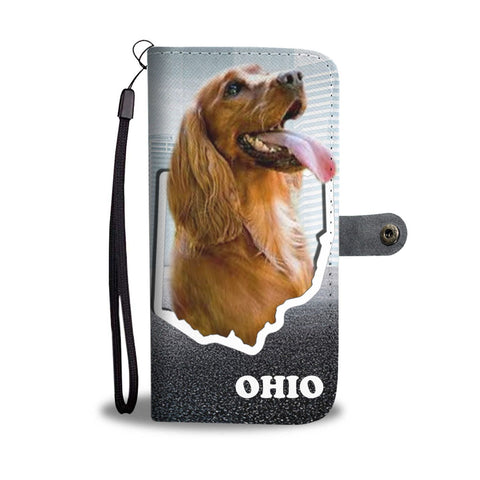 Cocker Spaniel Print Wallet Case-Free Shipping-OH State