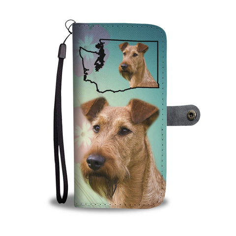 Irish Terrier Print Wallet Case-Free Shipping-WA State