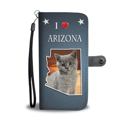 British Shorthair Cat Print Wallet Case-Free Shipping-AZ State