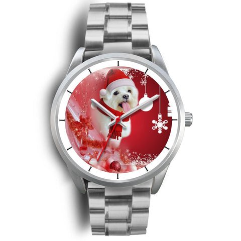 Cute Maltese Dog Christmas Print Wrist Watch-Free Shipping