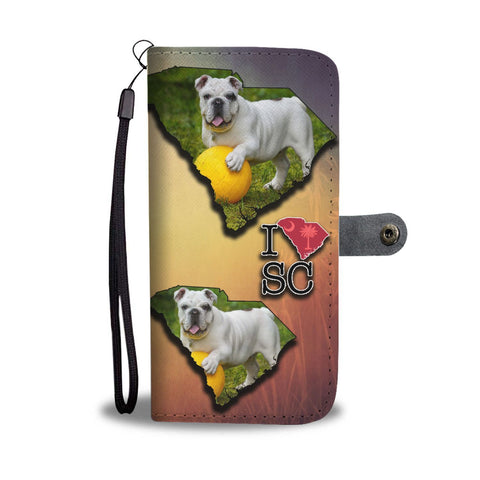 Cute Bulldog Puppy Print Wallet Case-Free Shipping-SC State