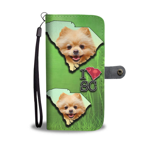 Cute Pomeranian Dog Print Wallet Case-Free Shipping-SC State