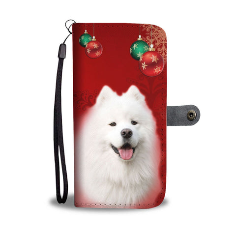 Cute Samoyed Dog On Christmas Wallet Case-Free Shipping