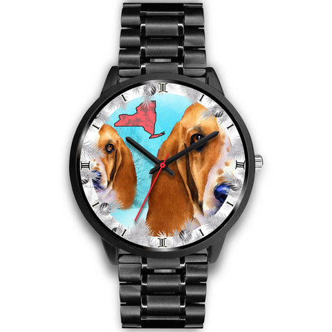 Basset Hound Dog New York Christmas Special Wrist Watch-Free Shipping