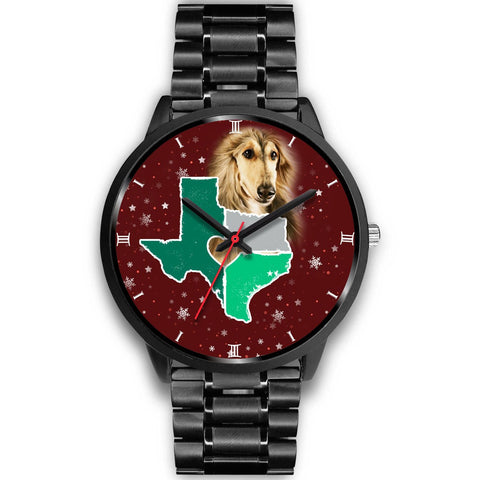 Afghan Hound Dog Texas Christmas Special Wrist Watch-Free Shipping