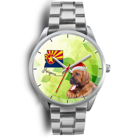 Bloodhound Dog On Christmas Arizona Wrist Watch-Free Shipping