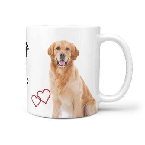 Cute Golden Retriever Print 360 Mug