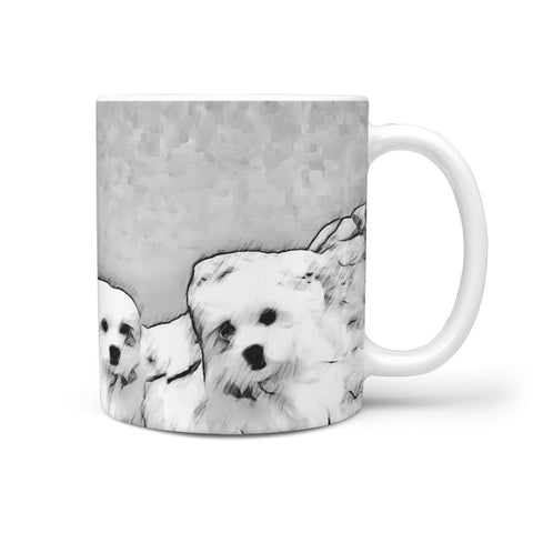 Cute Maltese Dog Rushmore Mount Print 360 White Mug