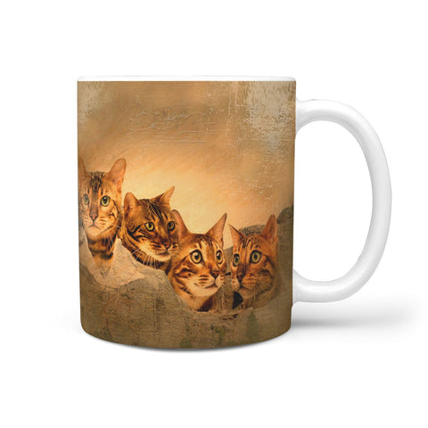 Bangle Cat Oil Painting Mount Rushmore Print 360 Mug