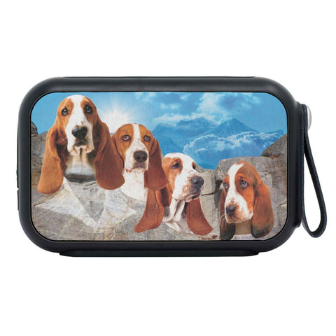 Basset Hound On Mount Rushmore Print Bluetooth Speaker