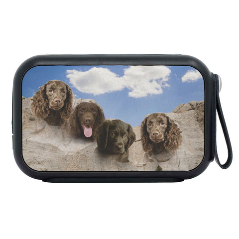 American Water Spaniel On Mount Rushmore Print Bluetooth Speaker