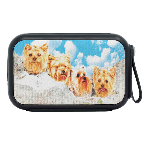 Yorkshire Terrier Dog Art On Mount Rushmore Print Bluetooth Speaker