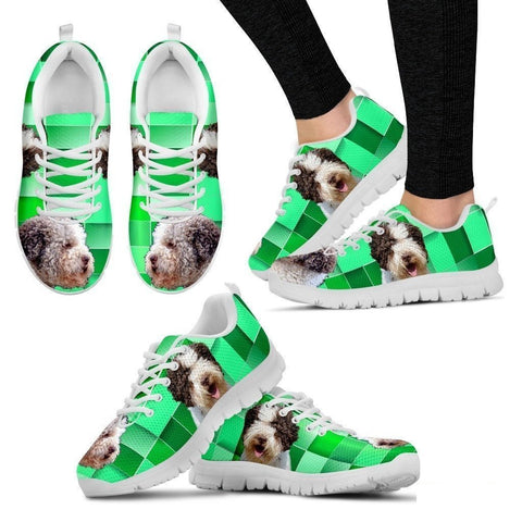 Lagotto Romagnolo Dog Print (Black/White) Running Shoes For Women-Free Shipping