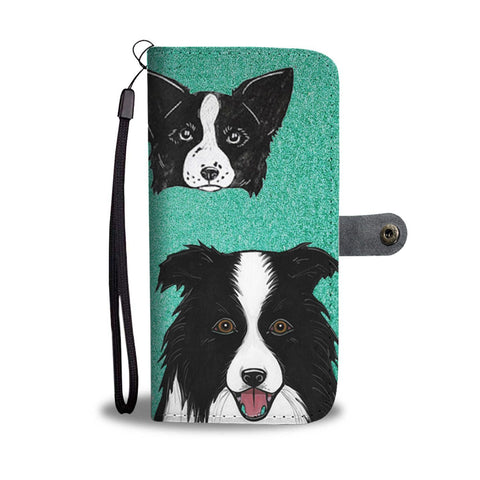 Amazing Border Collie Dog Print Wallet Case-Free Shipping