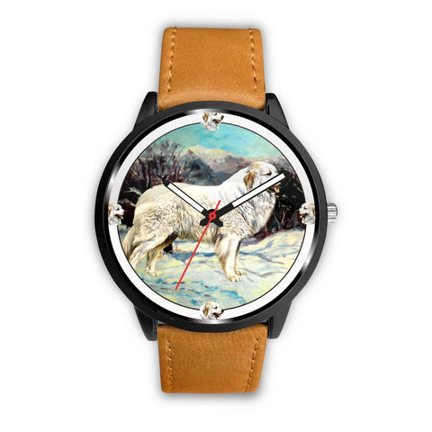 Great Pyrenees Dog Art Print Wrist watch - Free Shipping