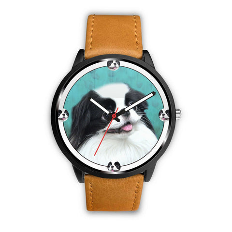 Cute Japanese Chin Dog Art Print Wrist watch - Free Shipping
