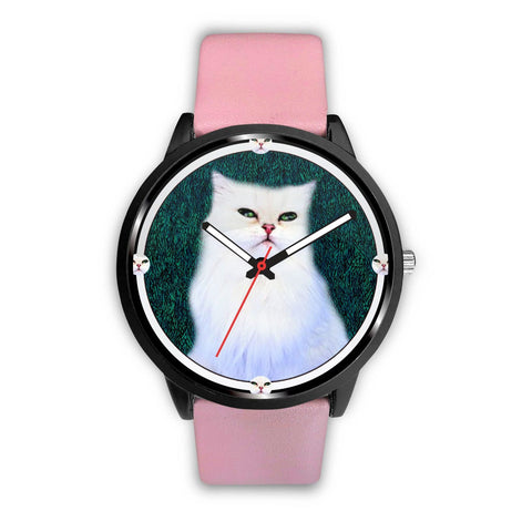 White Persian Cat Print Wrist watch - Free Shipping