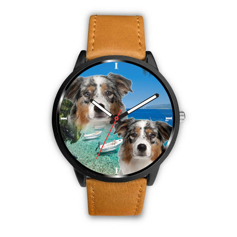 Cute Australian Shepherd Dog Print Wrist Watch - Free Shipping