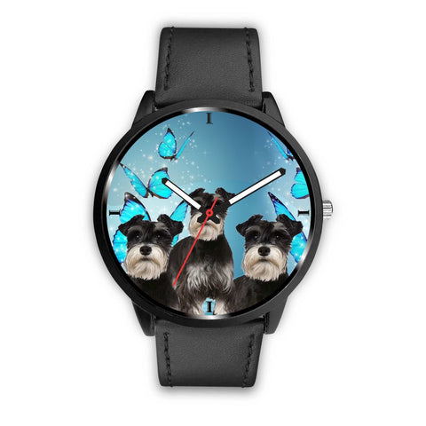 Miniature Schnauzer Dog Print Wrist Watch - Free Shipping