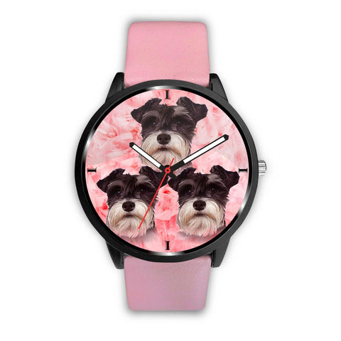 Cute Miniature Schnauzer Print Wrist Watch - Free Shipping