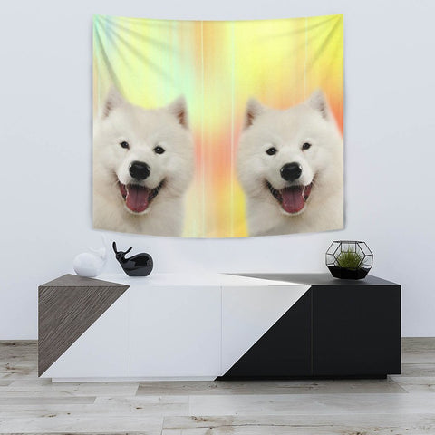 Cute Samoyed dog Print Tapestry-Free Shipping