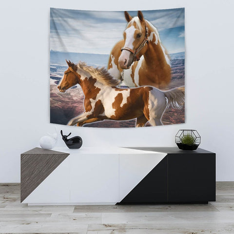 Amazing American Paint Horse Tapestry-Free Shipping