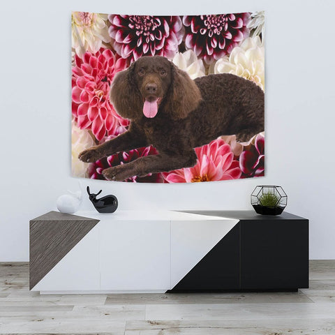 Cute American Water Spaniel Print Tapestry-Free Shipping