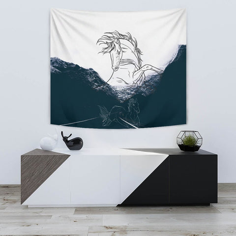 Dutch Warmblood Horse Print Tapestry-Free Shipping