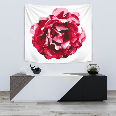 Rose Flower Art Print Tapestry-Free Shipping