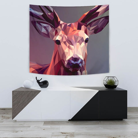 Deer Vector Art Print Tapestry-Free Shipping