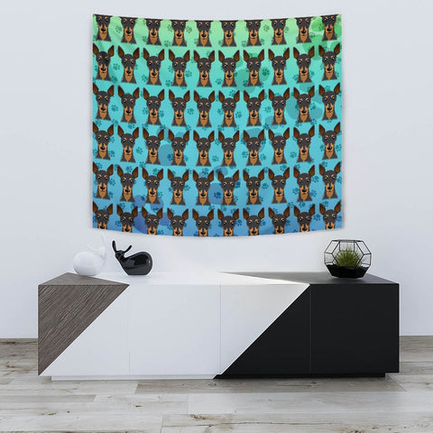 Miniature Pinscher Dog Pattern Print Tapestry-Free Shipping
