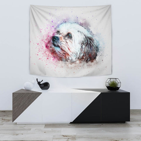 Shih Tzu Dog Watercolor Art Print Tapestry-Free Shipping