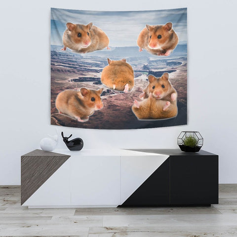 Djungarian Hamster Print Tapestry-Free Shipping