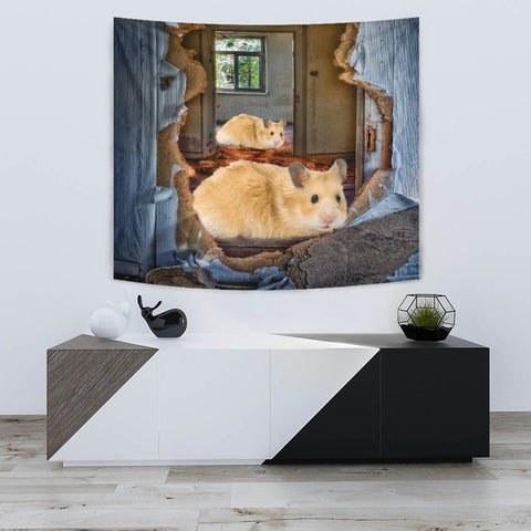 Golden Hamster Print Tapestry-Free Shipping
