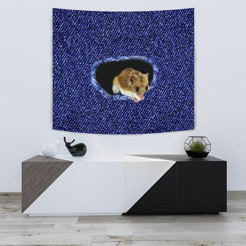 Amazing Chinese Hamster Print Tapestry-Free Shipping