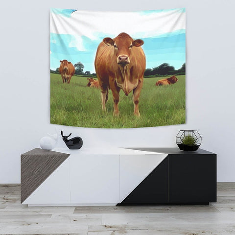 Angus cattle (Cow) Print Tapestry-Free Shipping