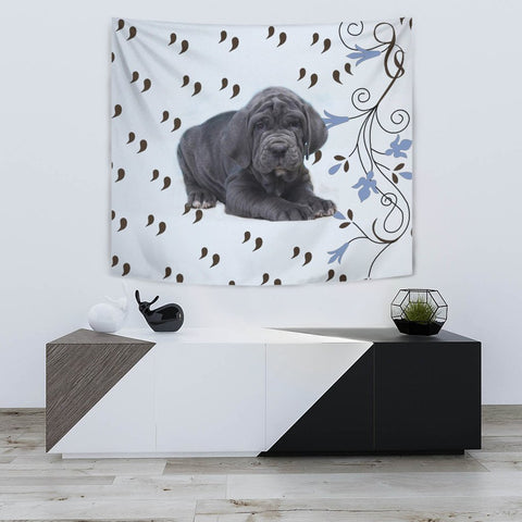 Cute Neapolitan Mastiff Print Tapestry-Free Shipping