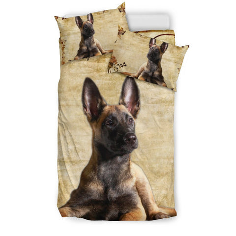 Belgian Malinois Dog Print Bedding Set- Free Shipping