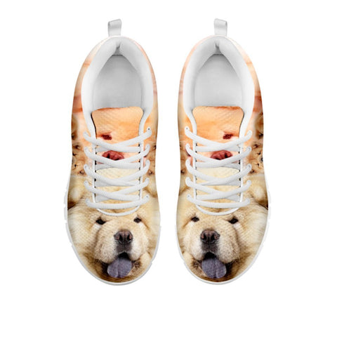 Cute Chow Chow Print Sneakers For Women- Free Shipping-For 24 Hours Only