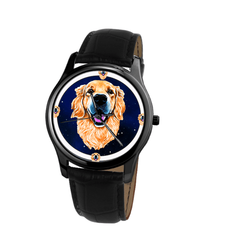 Lovely Golden Retriever Fashion Unisex Wrist Watch - Free Shipping