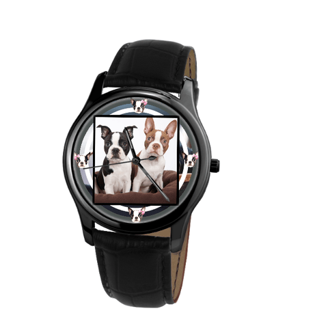 Boston Terrier Unisex Wrist Watch- Free Shipping
